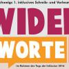 """""""Widerworte"""" – Veranstaltungen"""