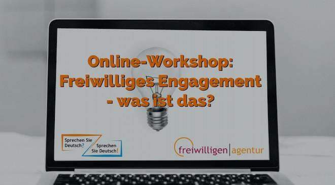 """Online-Workshop """"Freiwilliges Engagement"""" und Sprache"""