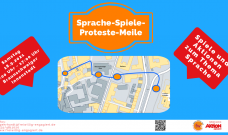 """Sprache-Spiele-Proteste-Meile"" am 18.09.2021"