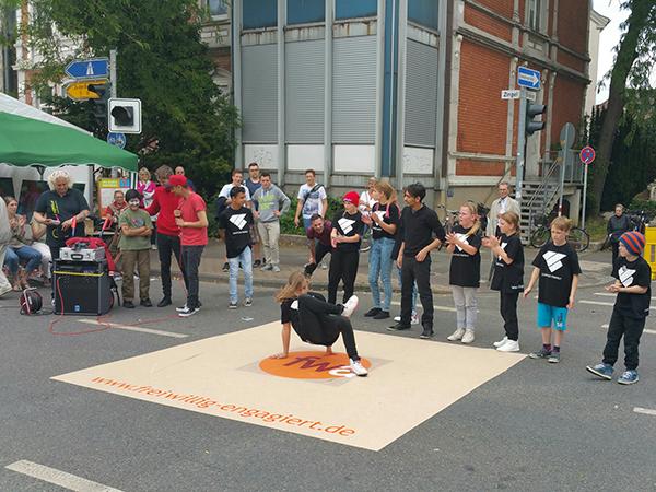 Streetdancer beim Tag der Niedersachsen
